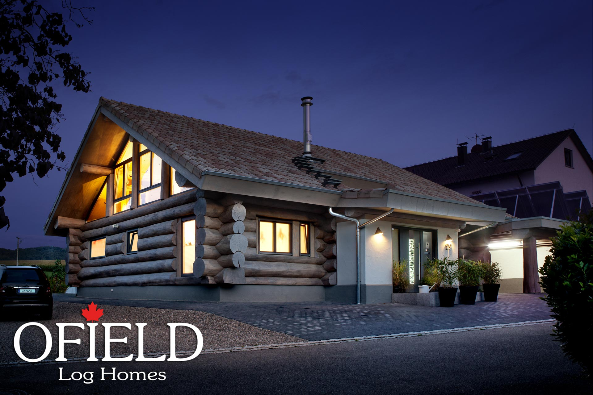 ofield log homes ein ofield haus in baden w rttemberg. Black Bedroom Furniture Sets. Home Design Ideas